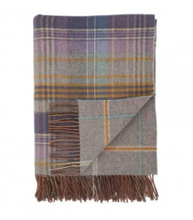 Plaid Laine Écossais Scottish Heritage Luxe Bleu