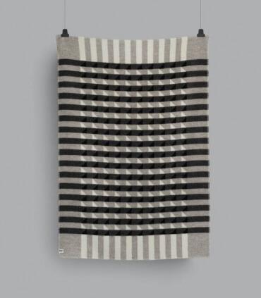 Plaid Pure Laine Design Kvam Gris 135 X 200 cm