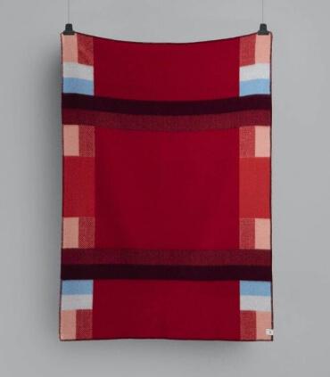 Plaid Pure Laine Mikkel Rouge 135 X 200 cm