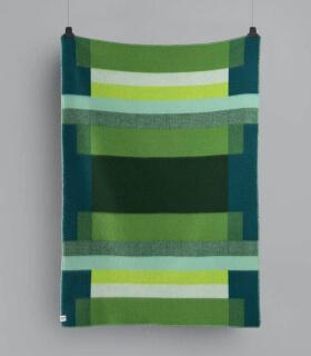 Plaid Pure Laine Mikkel Vert 135 X 200 cm