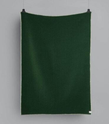 Plaid Laine Scandinave Reversible Vert 135 X 200 cm