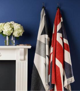 Plaid Laine Mérinos Union Jack 130 X 200 cm