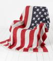 Plaid Laine Mérinos American Flag 130 X 200 cm