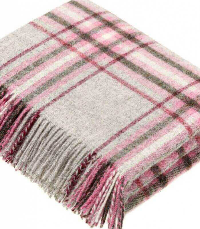 Plaid Snowshill Grey and Pink