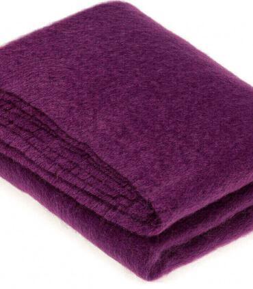 Plaid Mohair Violet Luxe 140 X 180 cm