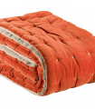 Chemin de lit Velours ELISE Orange 90 X 240 cm