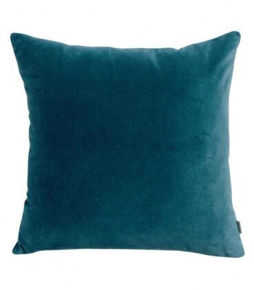 Lot de 2 Coussins en Velours ELISE Bleu Riviera 45 X 45 cm