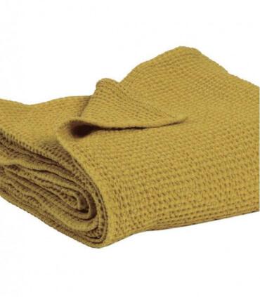 Jeté de canapé/ Couvre-lit 100% coton lavé Badiane 240 X 260 cm