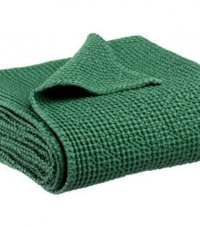 Jeté de canapé/ Couvre-lit 100% coton lavé Vert Prairie 240 X 260 cm