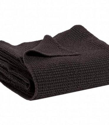 Jeté de canapé/ Couvre-lit 100% coton Noir