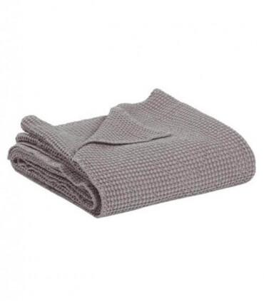 Jeté de canapé/ Couvre-lit 100% coton Gris Clair