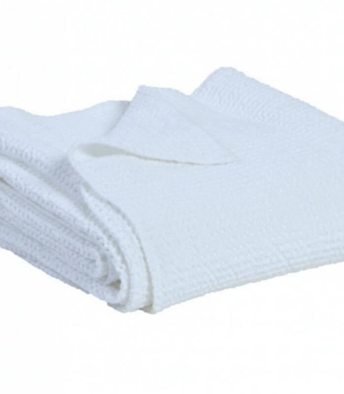 Jeté de canapé/ Couvre-lit 100% coton lavé Blanc 240 X 260 cm