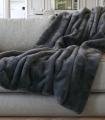 Plaid Fausse Fourrure Ours Brun 140 X 180cm