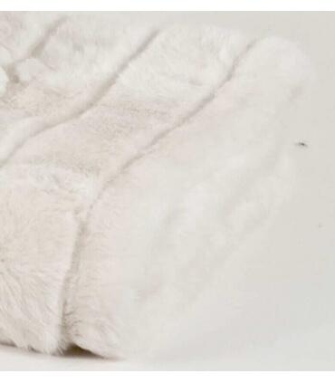 Plaid Fausse Fourrure Blanc
