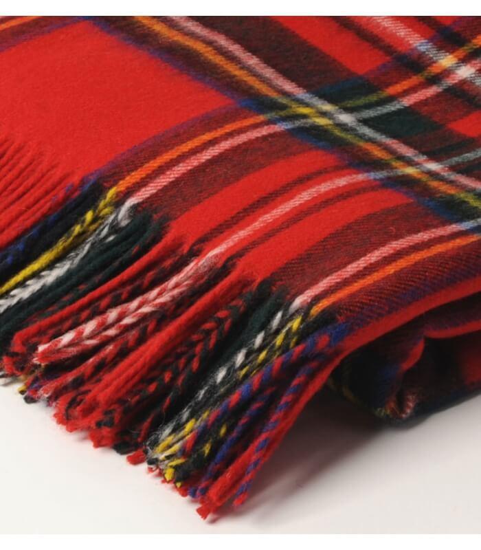 Plaid Écossais Rouge Royal Stewart : Plaid Addict, Vente En Ligne