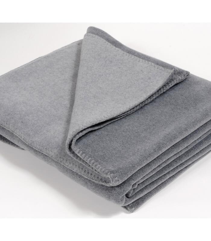 plaid polaire luxe gris 160 x 200 cm plaid addict vente en ligne de plaids polaire luxe. Black Bedroom Furniture Sets. Home Design Ideas
