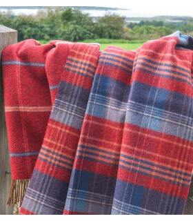 Plaid Scottish Heritage Rouge et Bleu