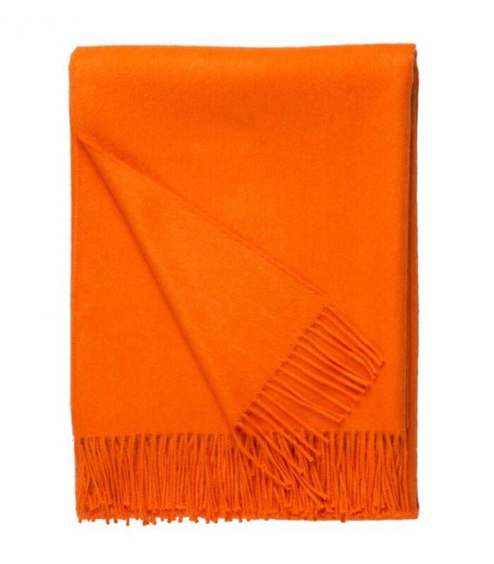 plaid laine alpaga luxe paola orange plaid addict vente en ligne de s lection cadeaux de mariage