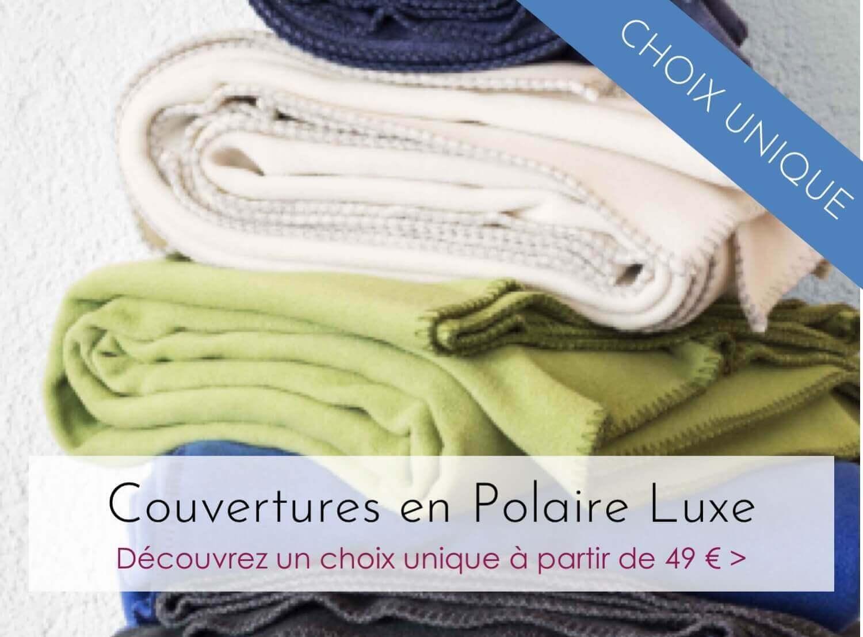 Choix unique de plaids en polaire luxe