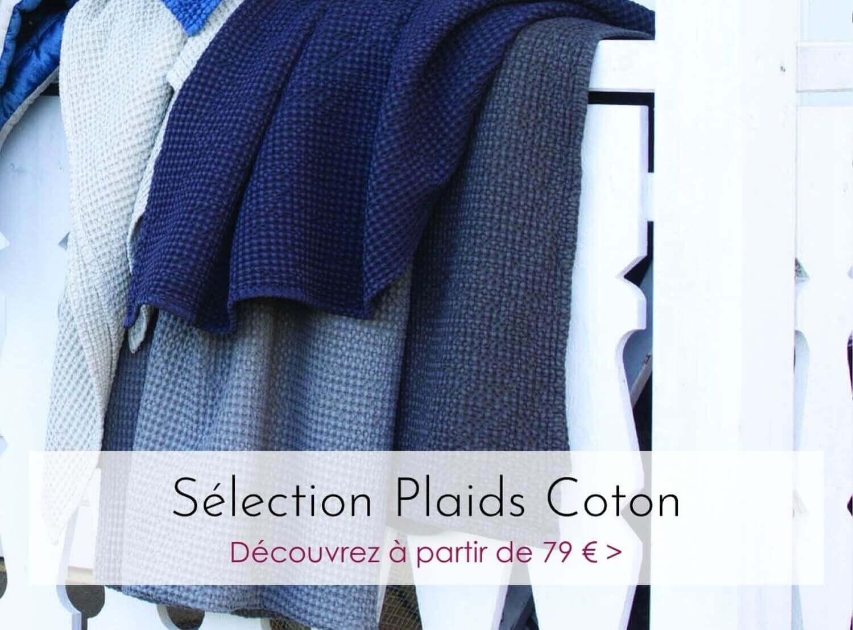 Plaids en coton