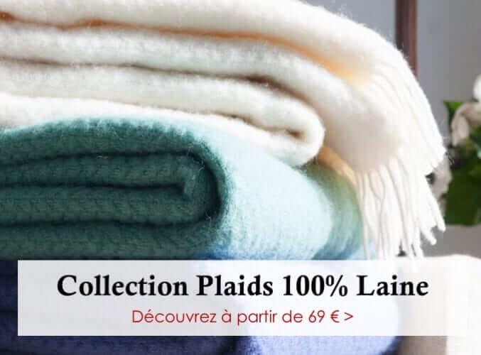 Plaid - Plaid Addict : La Boutique Des Plaids : Pure Laine, Fausse